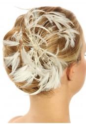 Bijoux cheveux mariée en plumes - Volupté