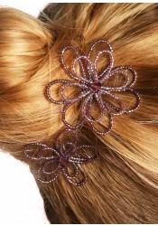Pics à cheveux mariage Camélia mauve