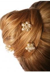 Pics cheveux mariage Estella crème