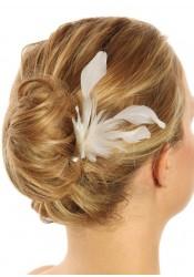 Accessoires cheveux plumes mariage Insouciance