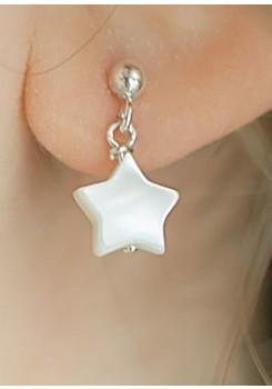 Boucles d'oreilles enfant nacre