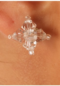 Boucles d'oreilles mariage Cristal