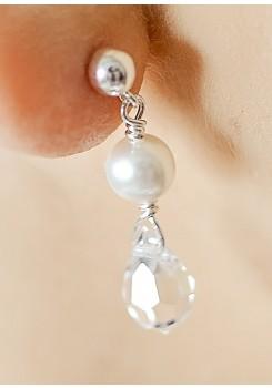 Boucles d'oreilles mariage Gouttes perles