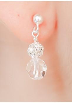 Boucles d'oreilles mariée Noémie