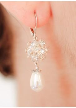 Boucles d'oreilles mariage Rosélia