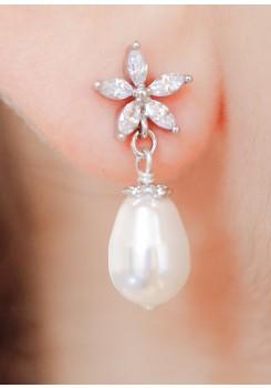 Boucles d'oreilles mariage Violette