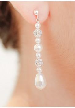 Boucles d'oreilles mariée Anna longues