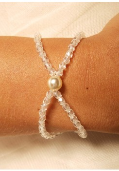 Bracelet mariage Cascade crème