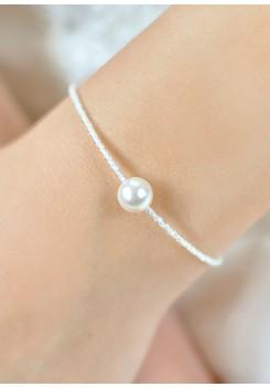 Bracelet de mariage Léa ivoire
