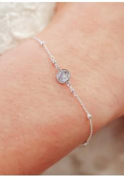 Bracelet mariée solitaire