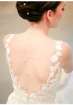 Collier de dos mariée Iris