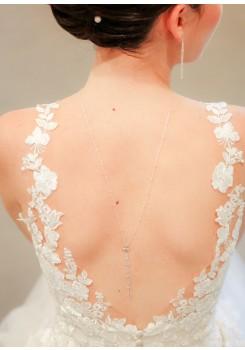 Collier de dos mariée Lili