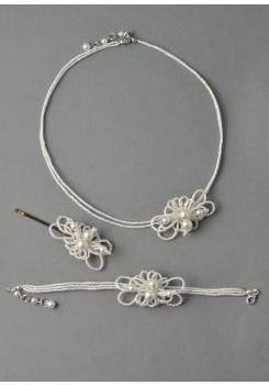 Parure de mariée Petunia blanc