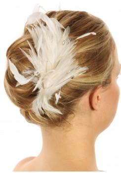 Accessoires cheveux plumes mariage Angel