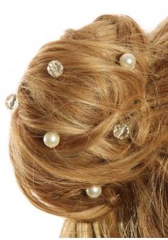 Pics cheveux mariage Cascade argent