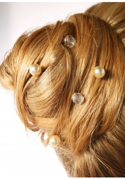 Pics cheveux mariage Cascade crème