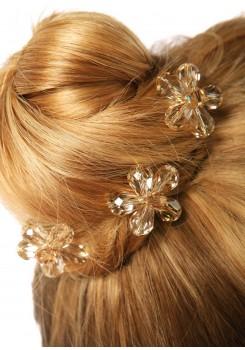 Pics à cheveux mariée Fleur d'été miel