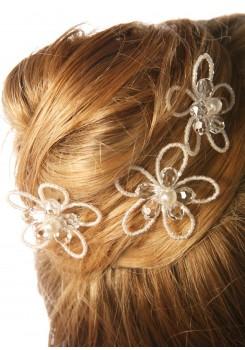 Pics cheveux mariage Romantique (Lot de 3)