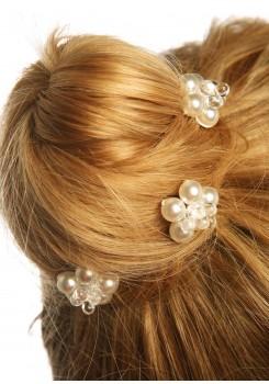 Pics cheveux mariage Estella ivoire clair (Lot de 3)