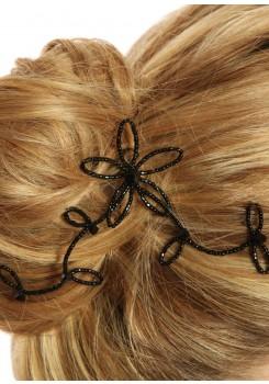 Pic à cheveux mariage Eve noir