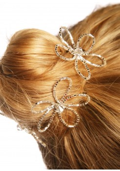 Pics cheveux mariage Fleur de cristal