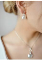 Boucles d'oreilles mariage Eclat