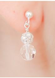 Boucles d'oreilles de mariée Noémie