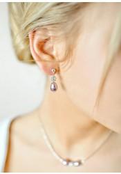 Boucles d'oreilles mariage Anna lilas