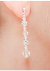 Boucles d'oreilles de mariée Noémie longues