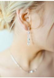 Boucles d'oreilles mariage Sparkle mi-longues