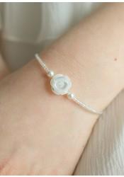 Bracelet cérémonie enfant Rose