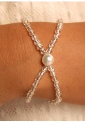 Bracelet mariage Cascade argent