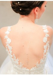 Collier de dos mariée Elisa