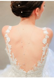 Collier de dos mariée Lucia