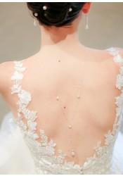 Collier de dos mariée Inès