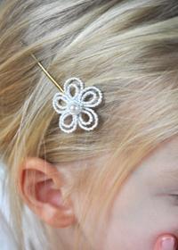 Bonne Vendredi - Journée de Souvenir Barrettes-enfant-fleur-blanc