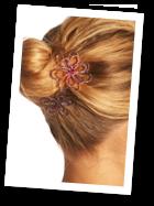 Pics à cheveux mariée en couleurs